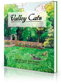 "Children's Book Valley Cats ""The Adventures of Boonie and River"" by Gretchen Preston.  The Children's Book Valley Cats is more than a story of adventure. It's a celebration of seasonal beauty and regional history, a lesson in trying new things, and a tribute to having fun."
